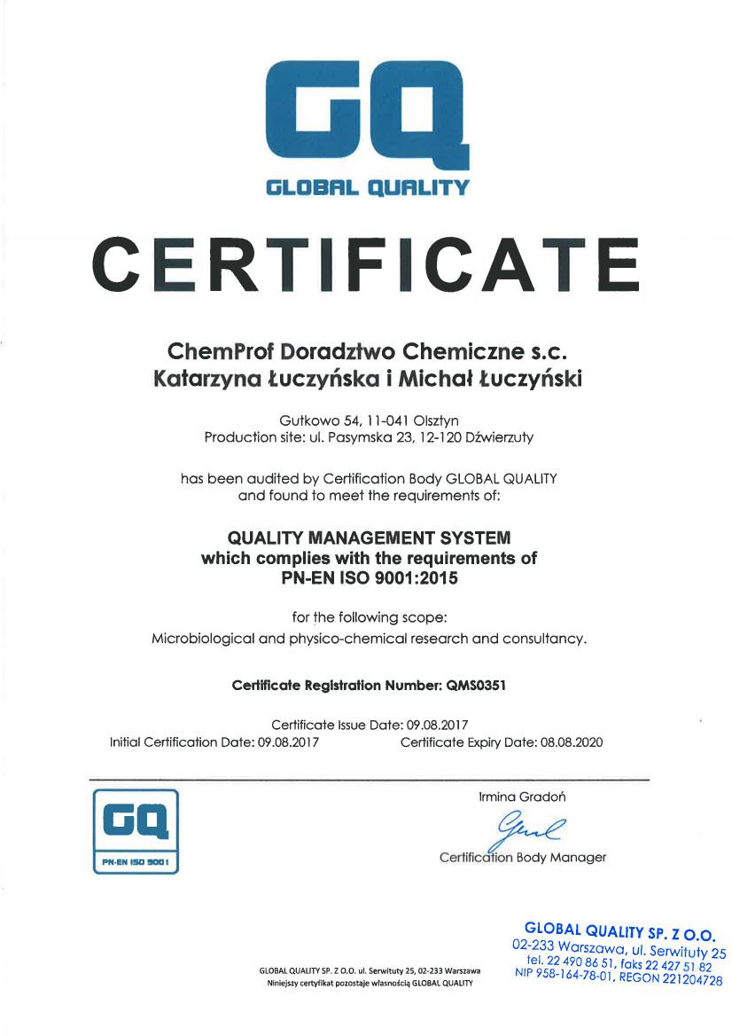 ISO 9001:2015 LAB